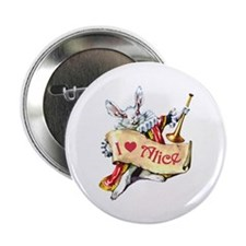 """The White Rabbit 2.25"""" Button (10 pack)"""