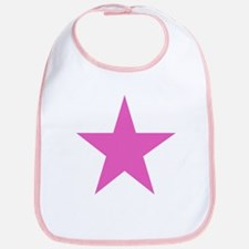 Five Pointed Pink Star Bib