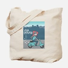 Unique Scooter girl Tote Bag