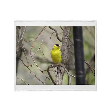 Goldfinch Throw Blanket