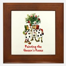 Painting the Queen's Roses Framed Tile