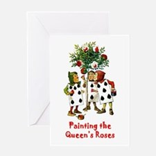 Painting the Queen's Roses Greeting Card