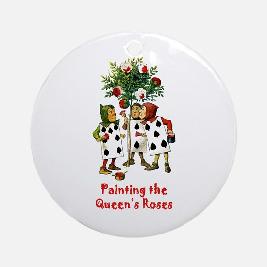 Painting the Queen's Roses Ornament (Round)