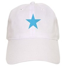 Five Pointed Baby Blue Star Baseball Cap