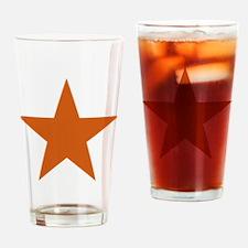 Five Pointed Burnt Orange Star Drinking Glass