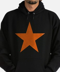 Five Pointed Burnt Orange Star Hoodie (dark)