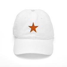 Five Pointed Burnt Orange Star Baseball Cap