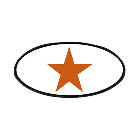 Five Pointed Burnt Orange Star Patches