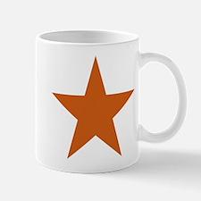 Five Pointed Burnt Orange Star Mug