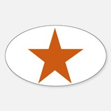 Five Pointed Burnt Orange Star Decal