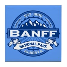 Banff Natl Park Cobalt Tile Coaster