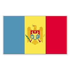 Moldova Rectangle Decal