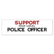 Support: POLICE OFFICER Bumper Car Sticker