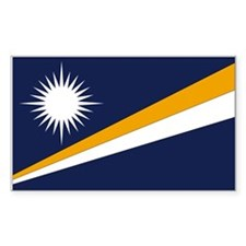 Marshall Islands Rectangle Decal