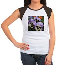 Happy Pansy Trio Women's Cap Sleeve T-Shirt