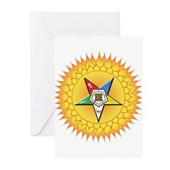 OES Star in the sun Greeting Cards (Pk of 10)