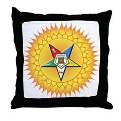 OES Star in the sun Throw Pillow