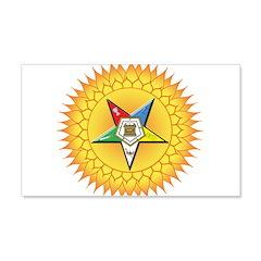 OES Star in the sun 22x14 Wall Peel