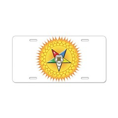 OES Star in the sun Aluminum License Plate
