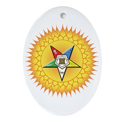OES Star in the sun Ornament (Oval)