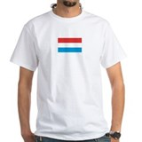 Luxembourg Mens White T-shirts