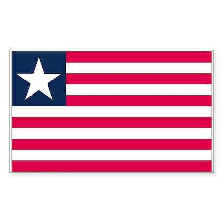 Liberia Rectangle Sticker