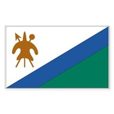 Lesotho Rectangle Decal