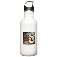 """Why God Made Dogs"" French Bulldog Water Bottle"