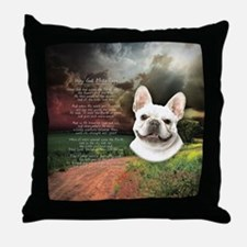 """Why God Made Dogs"" French Bulldog Throw Pillow"