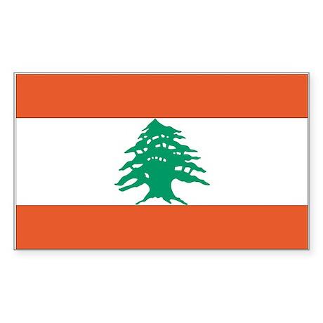 Lebanon Rectangle Sticker