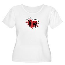 Women's Plus Size Scoop Neck-White-Hairless Hearts