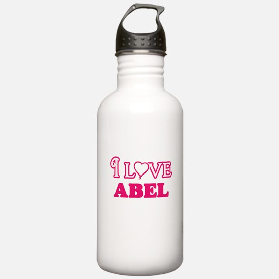 I Love Abel Sports Water Bottle
