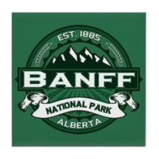 Banff Natl Park Forest Tile Coaster