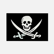 Pirate Flag Rectangle Magnet