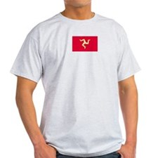 Isle of Man Ash Grey T-Shirt