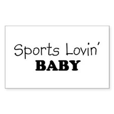 Sports Lovin%d5 Baby Rectangle Decal