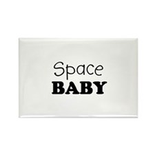 Space Baby Rectangle Magnet