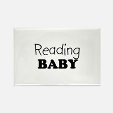 Reading Baby Rectangle Magnet