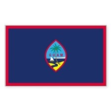 Guam Rectangle Decal