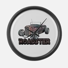 1932 Ford Roadster Orange Cra Large Wall Clock