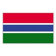 Gambia Rectangle Decal