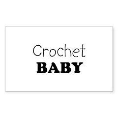 Crochet Baby Rectangle Decal