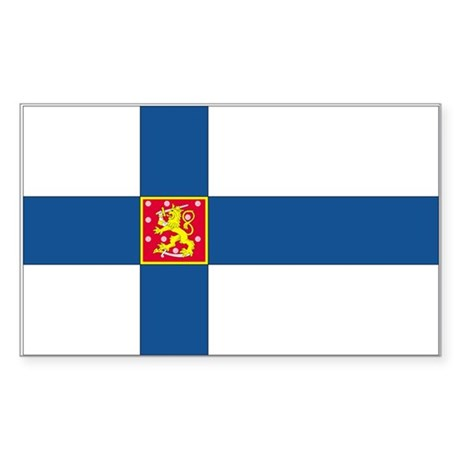 Finland Rectangle Sticker