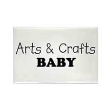 Arts & Crafts Baby Rectangle Magnet