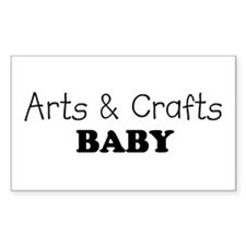 Arts & Crafts Baby Rectangle Decal