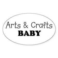 Arts & Crafts Baby Oval Decal
