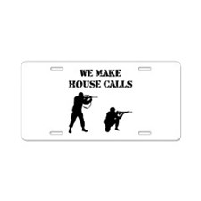 House Calls Aluminum License Plate