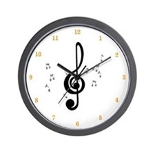 ClockWordArt Music Notes desi Wall Clock