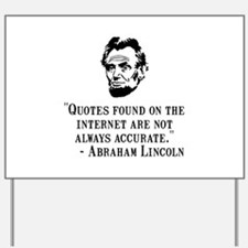 Lincoln Internet Yard Sign
