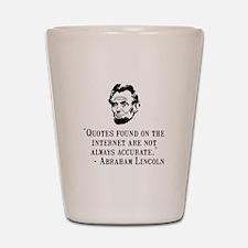 Lincoln Internet Shot Glass